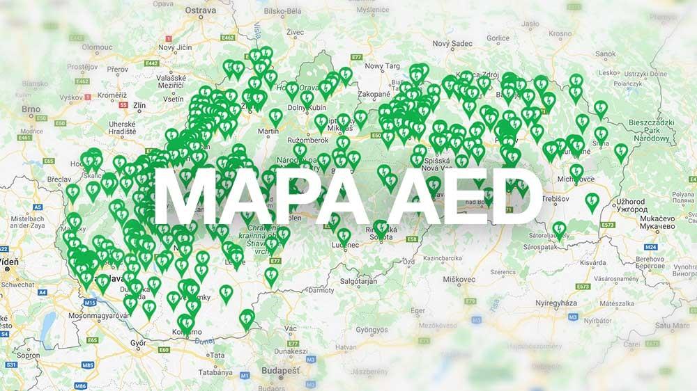 Zverejnili sme Mapu AED